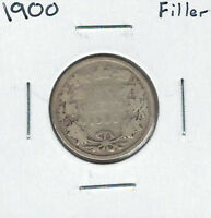 CANADA 1900 SILVER 25 CENTS FILLER LOT2
