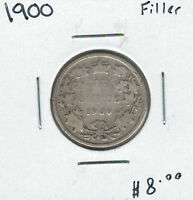 CANADA 1900 SILVER 25 CENTS FILLER LOT3
