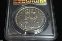 1935 NEW ZEALAND WAITANGI CROWN SLABBED PCGS MS62   UNC &