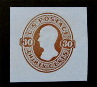 NYSTAMPS US CUT SQUARE STAMP  U339 MINT $55