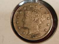 1910 LIBERTY HEAD V NICKEL AU
