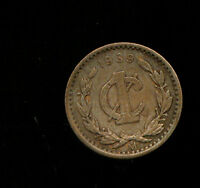 WORLD COINS MEXICO 1939 1 CENTAVO T795