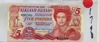 FALKLAND ISLANDS 2005 $5 POUND CURRENCY NOTE CHOICE CU 1790C