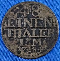 1784 C GERMANY STATES ERFURT 1/48 THALER SILVER COIN KM121