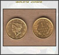 1849 UNITED STATES $1 GOLD LIBERTY COIN   GOLD RUSH YEAR