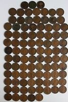 94 GREAT BRITISH OLD HALF PENNY'S VICTORIAN TO ELIZABETH 1800'S TO 1967