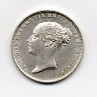 1846 SIXPENCE VICTORIA FIRST YOUNG HEAD HIGH GRADE