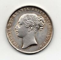 1846 SHILLING VICTORIA YOUNG HEAD HIGH GRADE