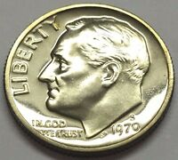 FLASHY 1970 S PROOF ROOSEVELT DIME  U.S. COIN  FREE BUBBLE SHIPPING & TRACKING