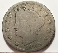 1902 LIBERTY V NICKEL U.S. COIN  FREE BUBBLE SHIP W TRACKING