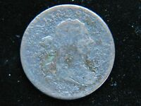 1804 1/2C PLAIN 4 NO STEMS BN DRAPED BUST HALF CENT NICE MID GRADE CORRODED