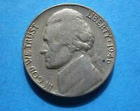 1946 D JEFFERSON NICKEL  VF   FROM A SHARP COLLECTION