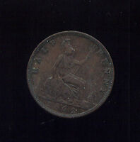 WORLD COINS GREAT BRITAIN 1862 HALF PENNY VF 2G364