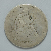 1848 O SEATED LIBERTY 90 SILVER HALF DOLLAR US LOW GRADE SCRATCHES CN3248