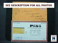NOBLESPIRIT NO RESERVE US1 VIBRANT NO. 64B 3 ROSE PINK ON COVER W CERT = $250