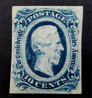 NYSTAMP US CSA CONFEDERATE STAMP  12 MINT WITH GUM H $20