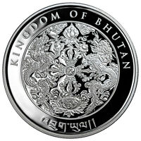 2017 KINGDOM BHUTAN HAPPIEST LUNAR SERIES 1 OZ. SILVER ROOSTER SKU47476