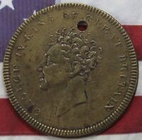 KAPPYSCOINS KING GEORGE IV TOKEN MEDAL DEATH MEMORIAL  BORN 1762  DIED 1830