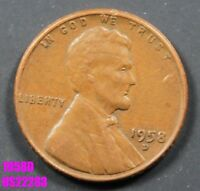 1958 D LINCOLN CENT CIRCULATED WHEAT PENNY