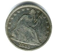 1843 O LIBERTY SEATED HALF DOLLAR NICE