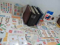 NYSTAMPS G THOUSANDS MINT USED OLD US STAMP COLLECTION ALBUM & BOX