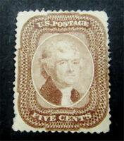NYSTAMPS US STAMP  29 MINT WITH GUM H $5500