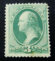 NYSTAMPS US STAMP  184 MINT WITH GUM H $90