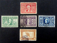 NYSTAMPS US STAMP  323 - 327 USED $92