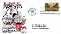 U S ARMY ISSUE 934 FDC FLEETWOOD/KNAPP CACHET M298