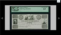 PCGS 64  CHOICE NEW MASSILLON OH   WELLMANS & WHITEHEAD $2 1800'S SPECIAL PROOF