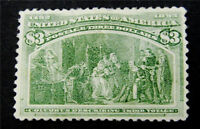 NYSTAMPS US STAMP  243 MINT OG H $1600