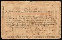 1774 WATERWORKS NOTE NEW YORK COLONIAL CURRENCY PRINTED BY HUGH GAIN PAPER MONEY