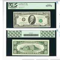 CHICAGO FR. 2023 G $10 1977 FEDERAL RESERVE NOTE. PCGS GEM NEW 66PPQ