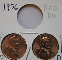 1955 P D S BU UNCIRCULATED 2 LINCOLN WHEAT CENT 1 P AND 1 D BUT YOU GRADE THEM