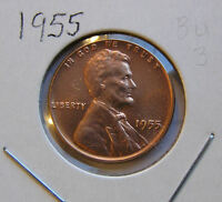 1955 P BU UNCIRCULATED MS BUT YOU GRADE IT LINCOLN WHEAT CENT