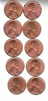 1949     10     CHOICE BU  LINCOLN CENTS  FREE 1930'S EXTRA FINE  WHEATIE  5069