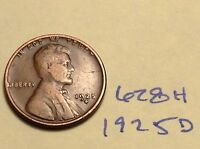 1925-D 1C BN LINCOLN CENT 628H