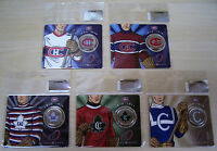 CANADA 50 CENTS MONTREAL CANADIENS CENTENNNIAL 2009 COINS    NO 2 3 4 5 6 SET