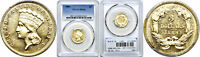 1889 $3 GOLD COIN PCGS MS 62