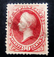 NYSTAMPS US STAMP  144 USED $2500 GRILL