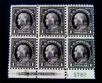 NYSTAMPS US STAMP  478 MINT WITH GUM H $13500 P6 FRANKLIN