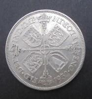 GREAT BRITAIN 1932 GEORGE V  SILVER FLORIN COIN FINE