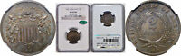 1864 LARGE MOTTO TWO CENT PIECE NGC MINT STATE 65 BN CAC