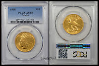 1908 PCGS AU58 INDIAN HEAD GOLD EAGLE 10$ GOLD COIN W/ MOTTO   33673704