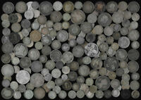 174 OLD BRITISH SILVER COINS  PLEASE SEE THE PICTURES