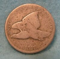 1858 LL FLYING EAGLE PENNY   CIRCULATED US COIN 1428