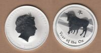 2009 AUSTRALIA ONE OUNCE SILVER SERIES II LUNAR YEAR OF THE