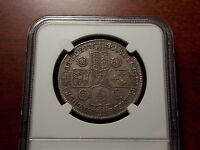 1741/39 GREAT BRITAIN HALF CROWN SILVER COIN NGC XF 40