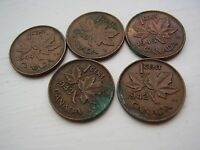 JOB LOT CANADA WW2 COINS  AS PHOTOS  POST FREE FROM ENGLAND $2.99