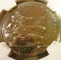 1790 GLASGOW LANARK  NGC  PROOF LIKE PL  TOUGH IN LUSTER PROOF MS 64 BN PL